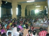 Devotees listening to Sri Swamiji's discourse